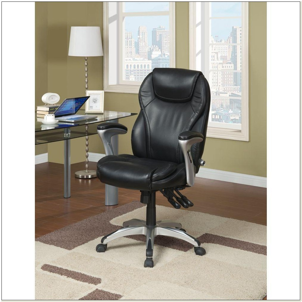Serta Black Bonded Leather Executive Office Chair