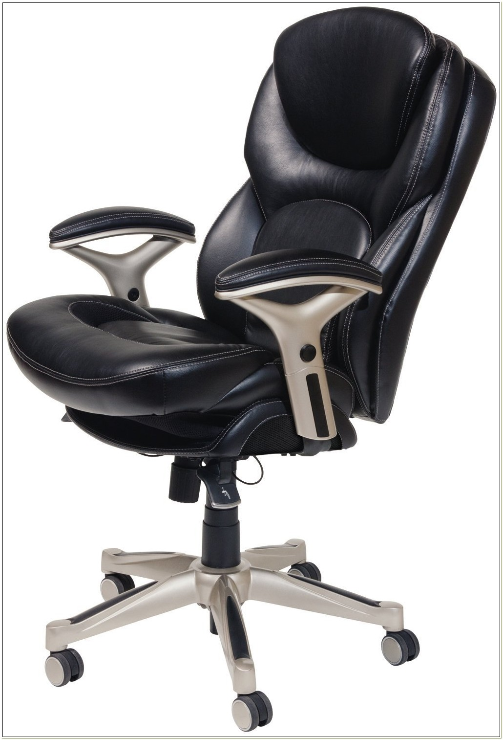Serta Black Leather Office Chair