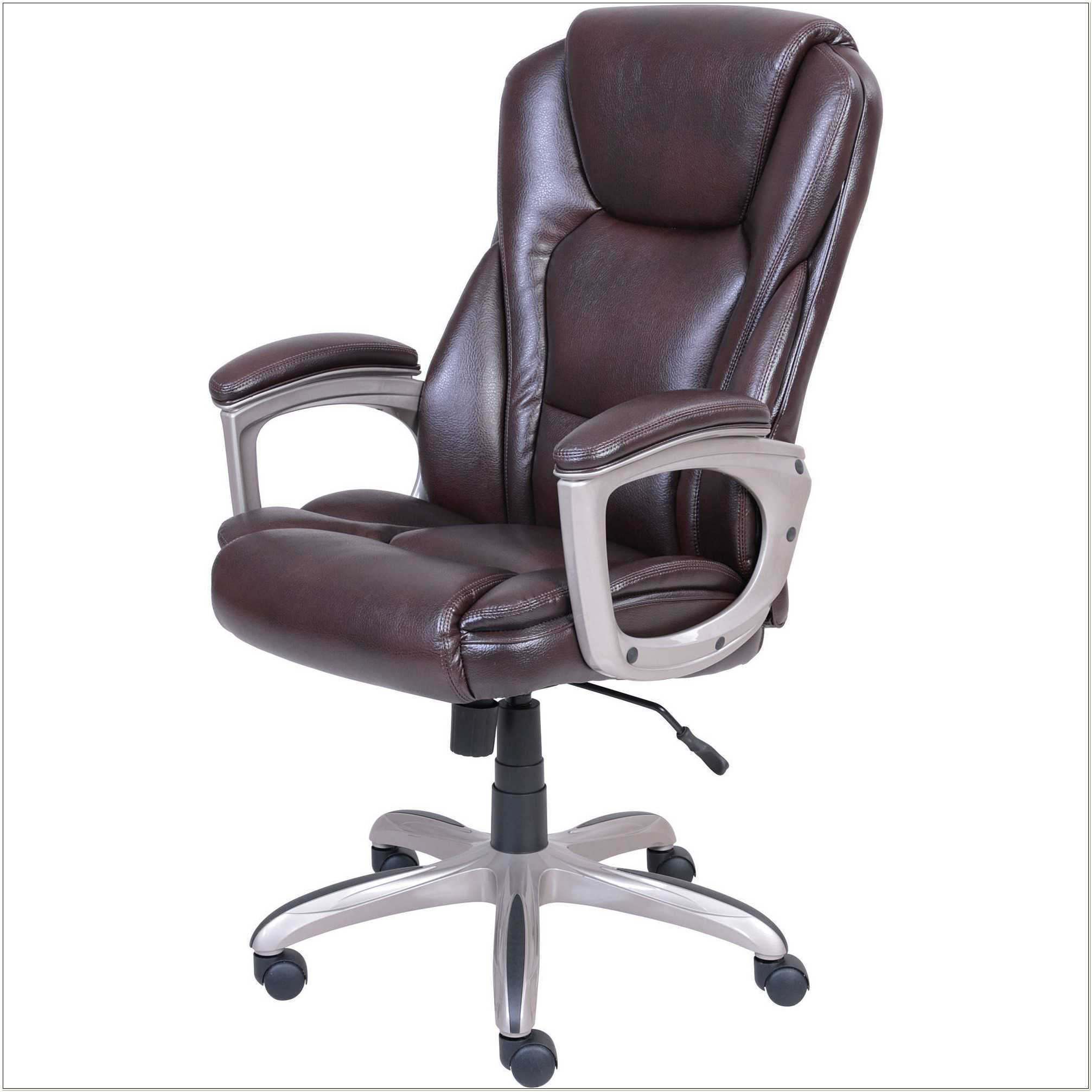 Serta Bonded Leather Executive Chair Gray