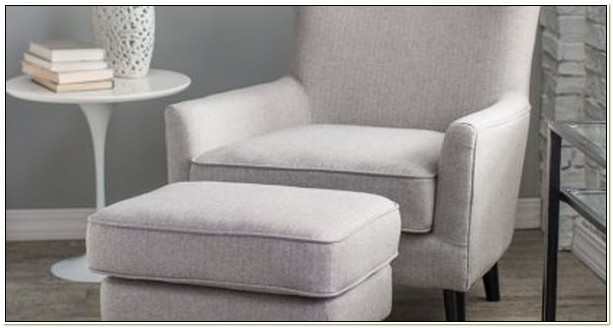 Serta Upholstery Wingback Chair And Ottoman