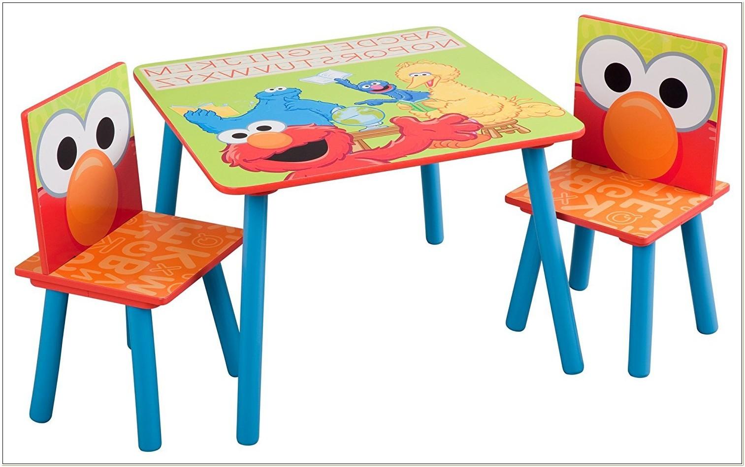 Sesame Street Elmo Table And Chair Set