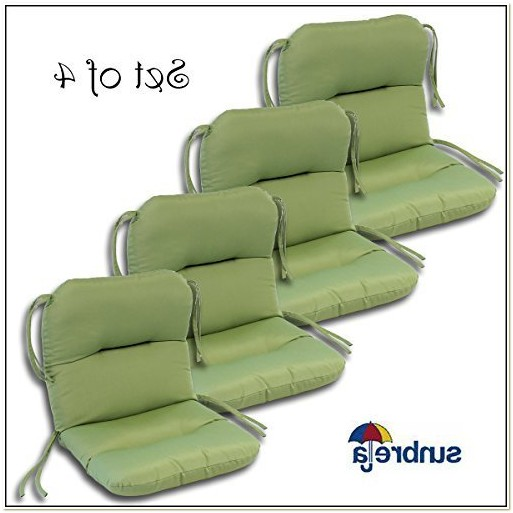 Set Of 4 Patio Seat Cushions