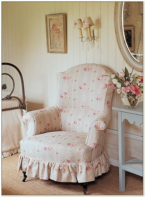 Shabby Chic Chair Slipcovers