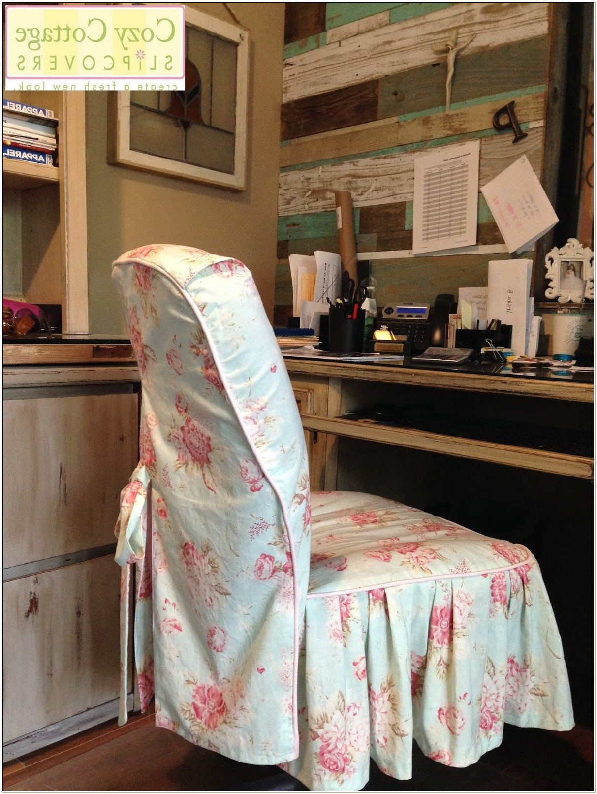 Shabby Chic Office Chair Slipcovers