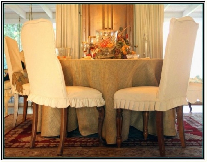 Shabby Chic Parsons Chair Slipcovers