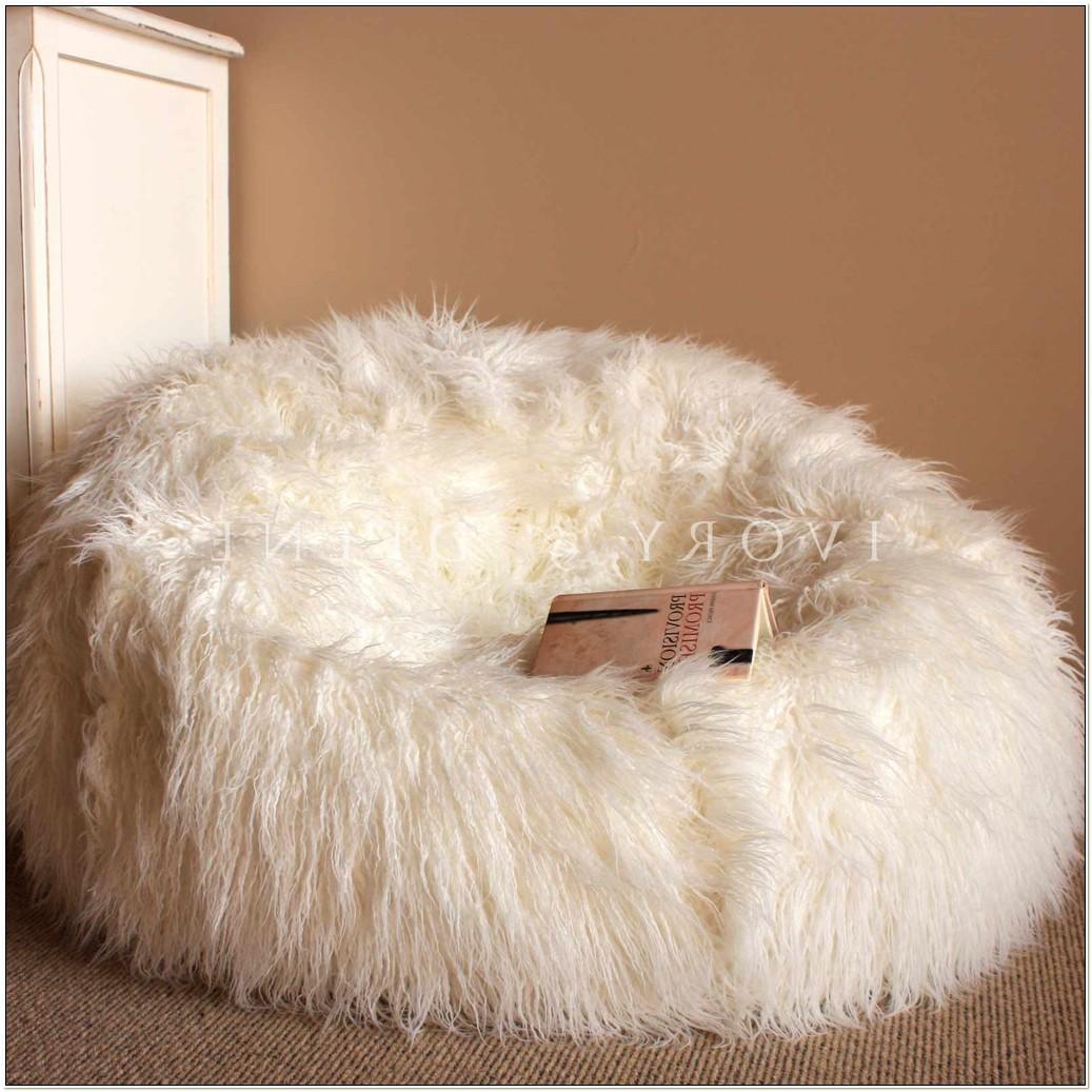Shaggy Fur Bean Bag Chair