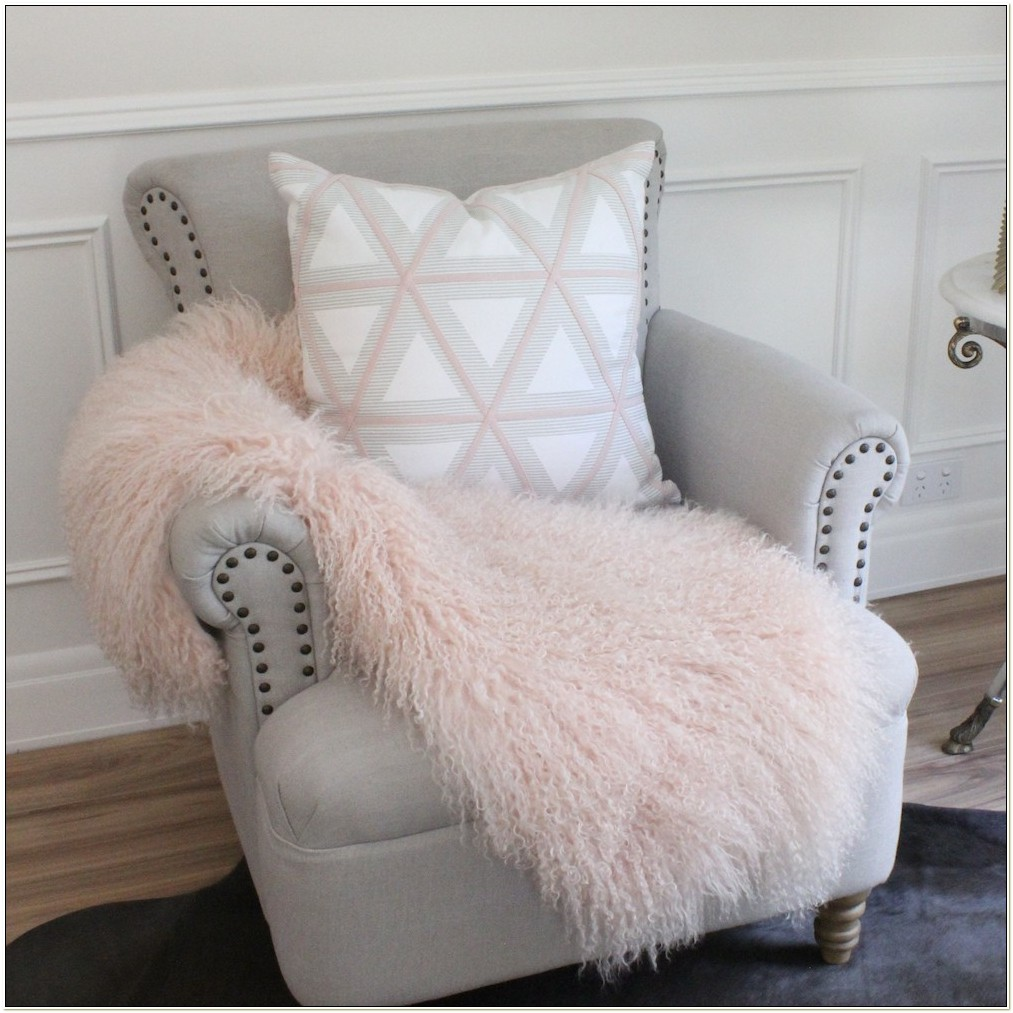 Sheepskin Throw Over Chair