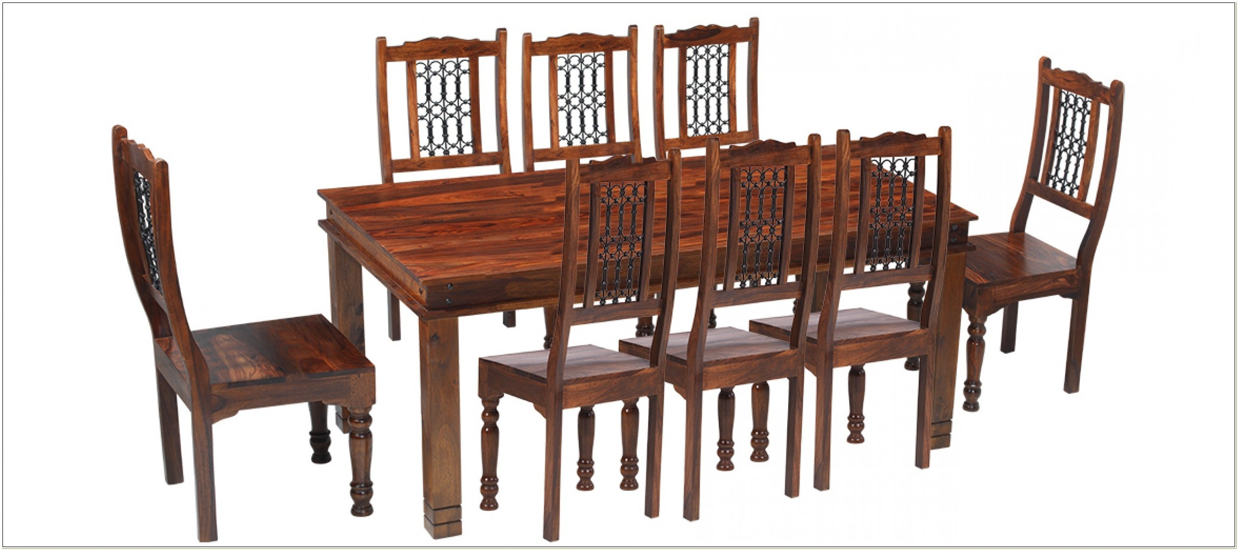 Sheesham Dining Table And 8 Chairs