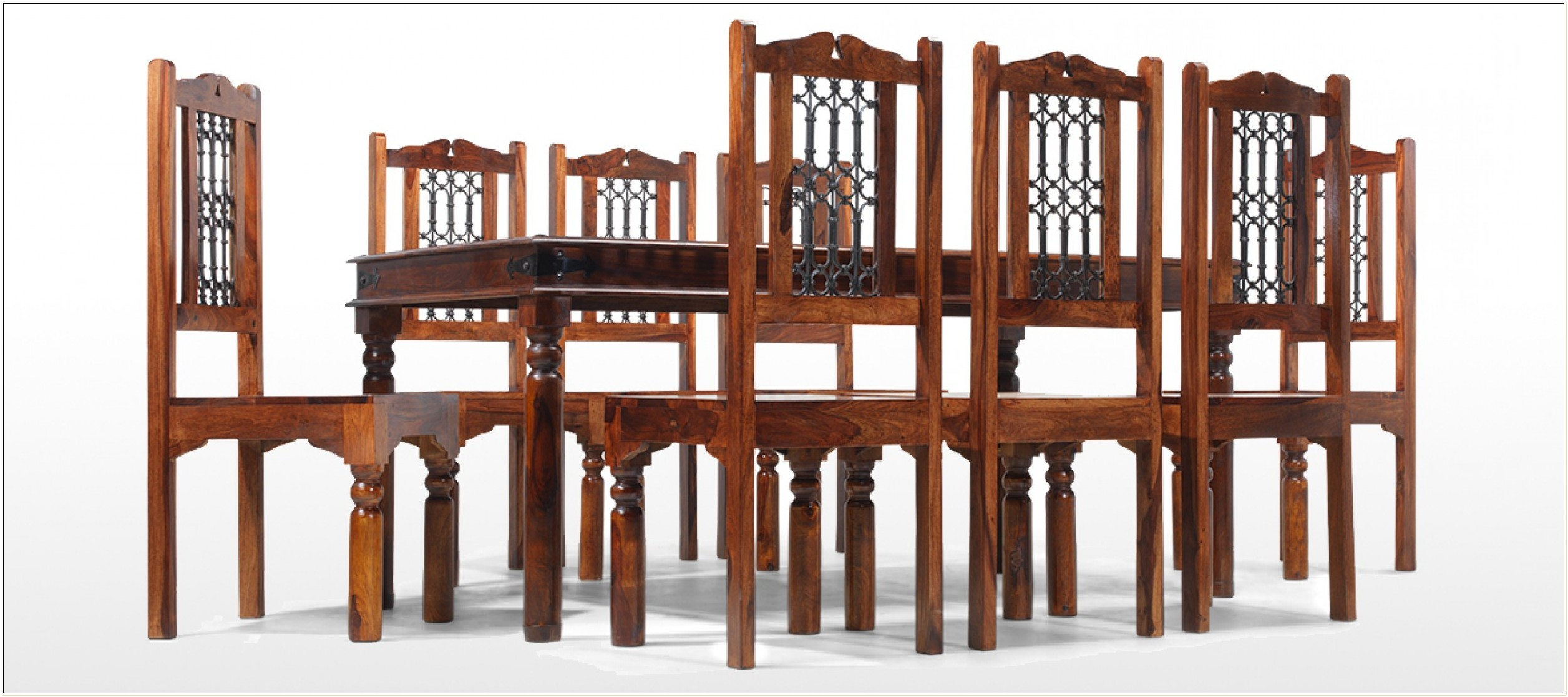 Sheesham Extending Dining Table And Chairs