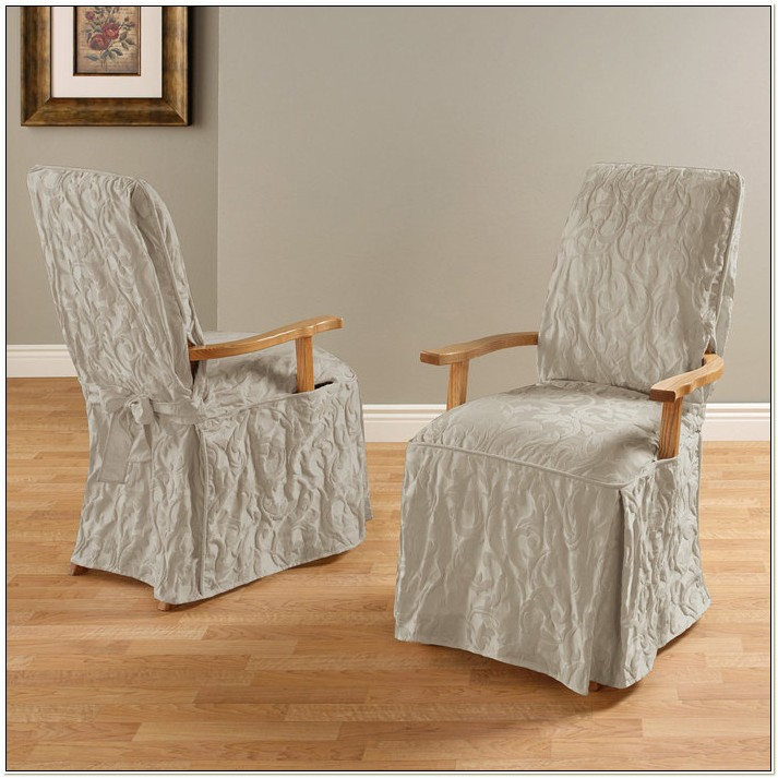 Short Dining Room Chair Covers With Arms