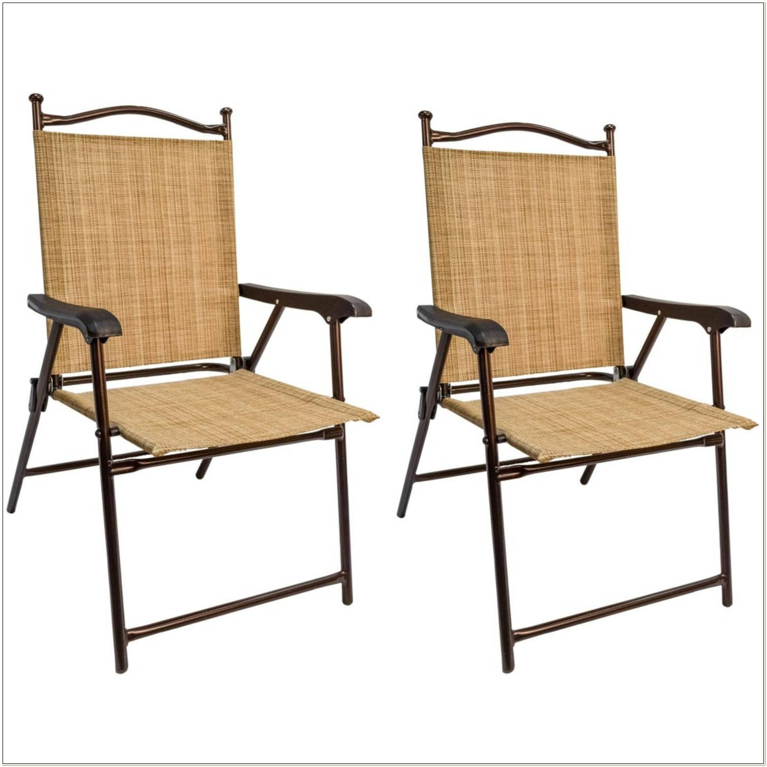 Sling Back Folding Patio Chairs