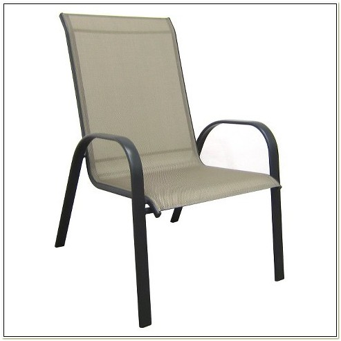 Sling Back Stackable Patio Chairs