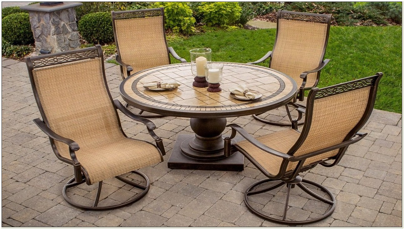 Sling Back Swivel Rocker Patio Chairs