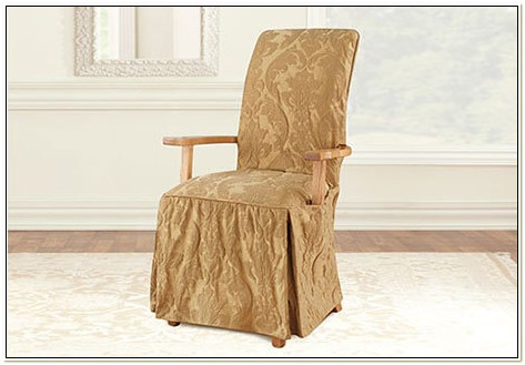 Slipcover For Dining Chair With Arms