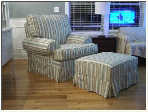 Slipcover For Overstuffed Chair And Ottoman
