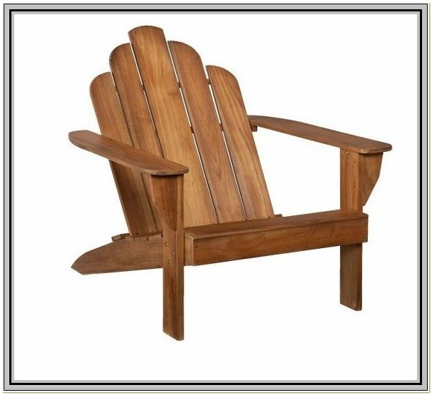 Smith And Hawken Teak Adirondack Chairs