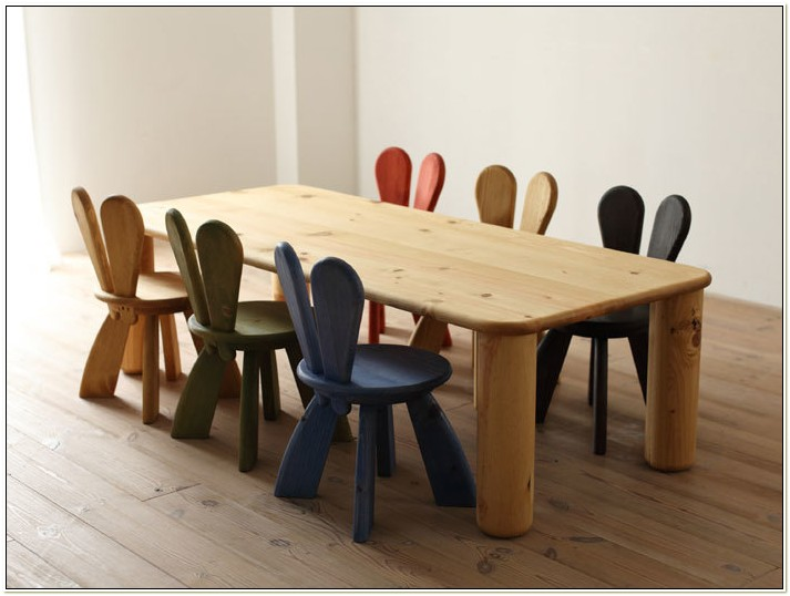 Solid Wood Childrens Table And Chairs