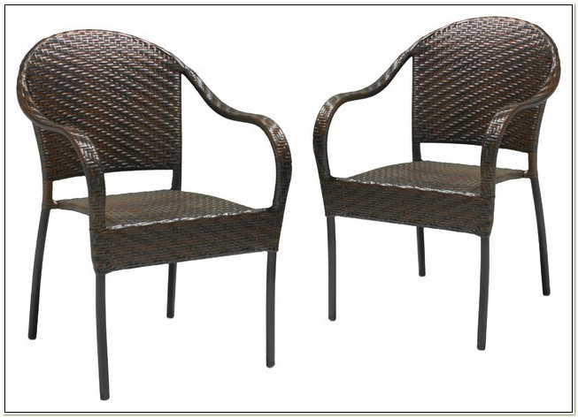Stackable Resin Wicker Patio Chairs