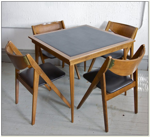 Stakmore Folding Table And Chairs