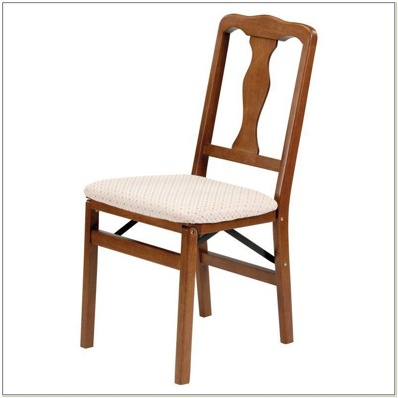 Stakmore Queen Anne Wood Folding Chairs