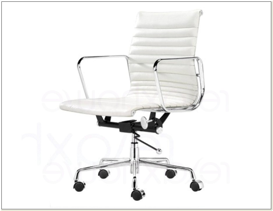 Staples White Desk Chair