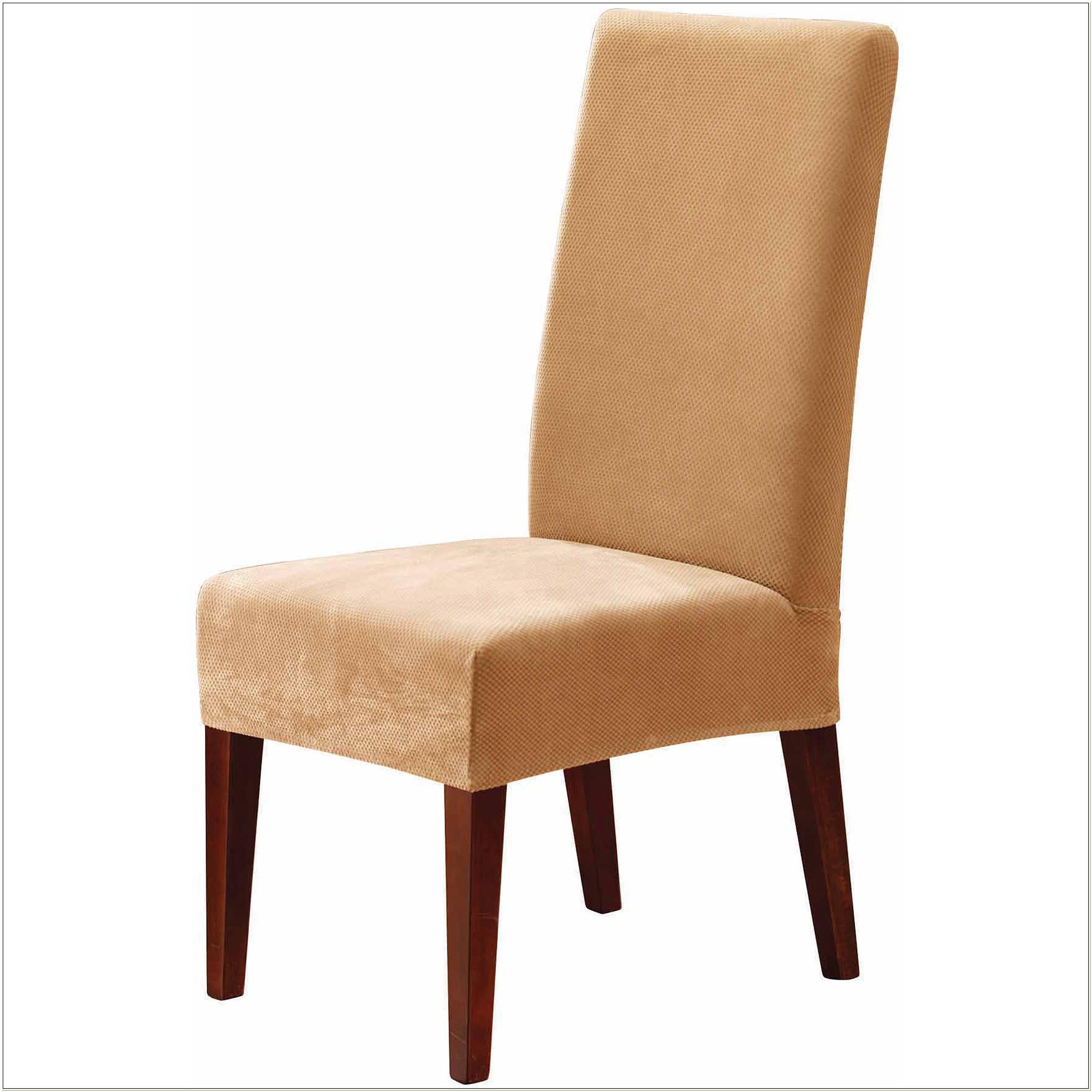 Stretch Piqu Dining Chair Slipcover Short