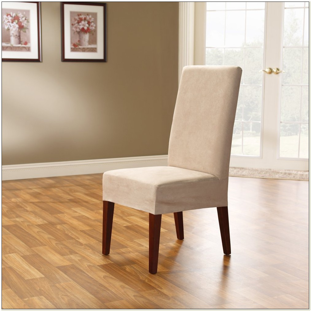 Stretch Plush Short Dining Chair Slipcovers