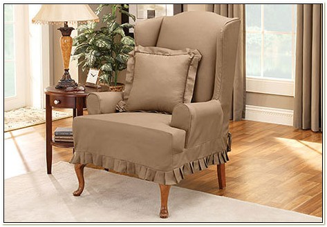 Stretch Verona Wing Chair Slipcover