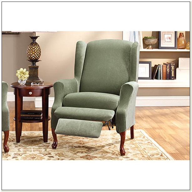 Stretch Wing Chair Recliner Slipcover