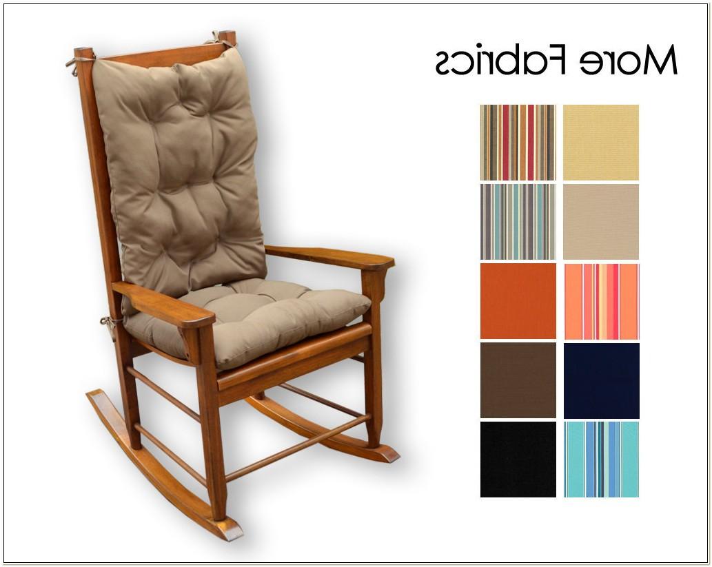Sunbrella Rocking Chair Cushion Set