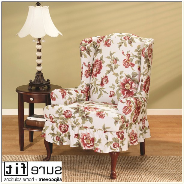 Sure Fit Olivia Wing Chair Slipcover