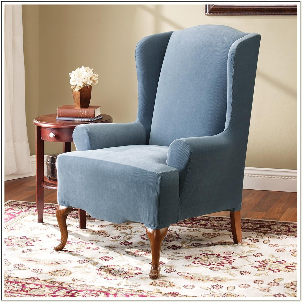 Sure Fit Stretch Wing Chair Slipcover