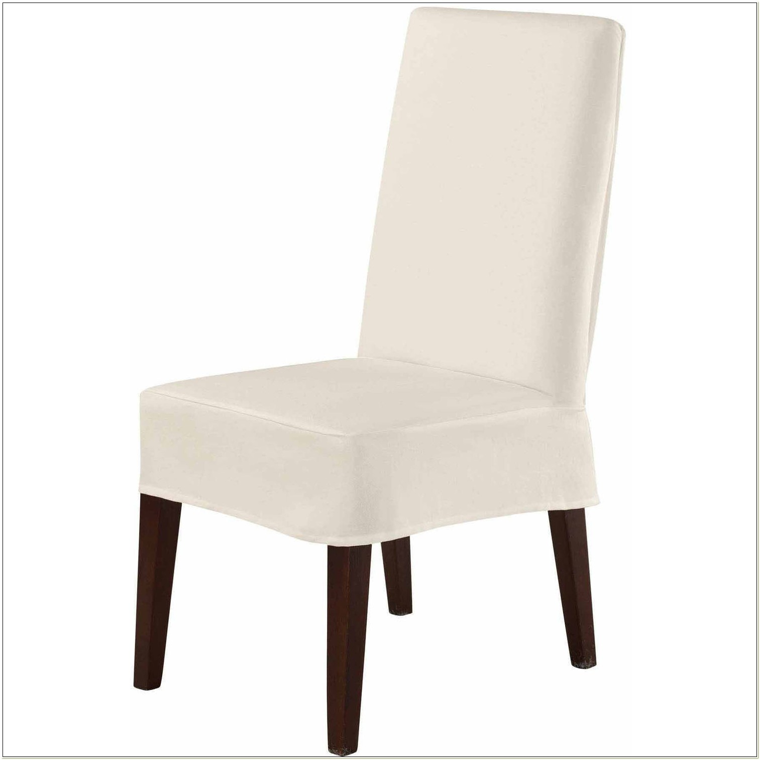 Sure Fit Twill Supreme Short Chair Slipcover