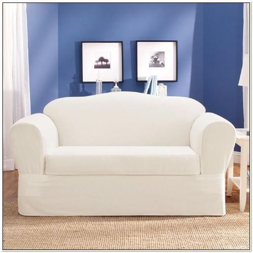 Sure Fit Twill Supreme Sofa Slipcover White