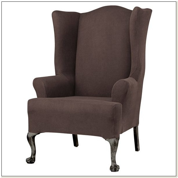 Sure Fit Twill Wing Chair Slipcover