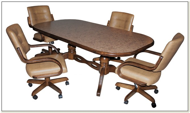 Swivel Dinette Chairs With Casters