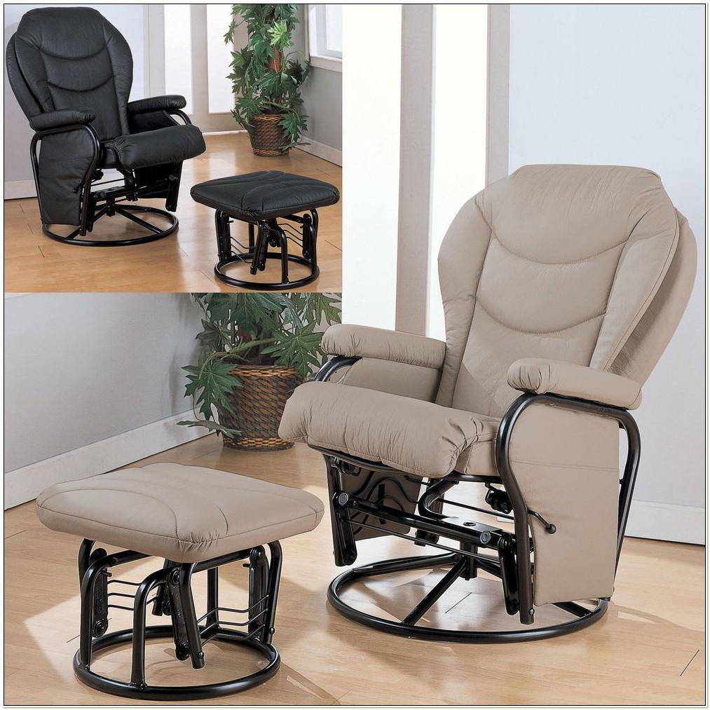 Swivel Glider Rocking Chair With Ottoman