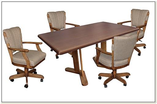 Swivel Tilt Caster Dinette Chairs