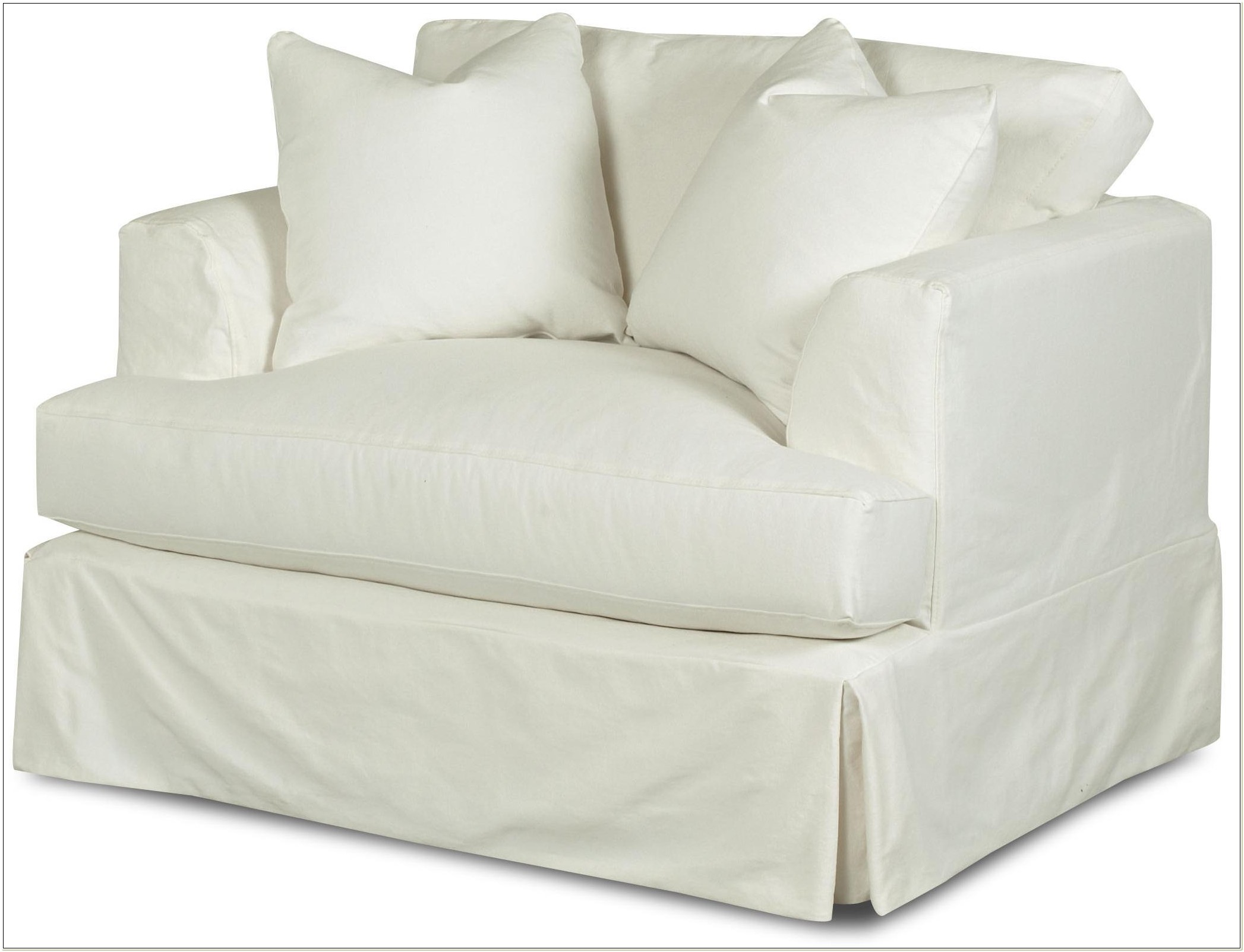 T Cushion Chair Slipcover With Ottoman