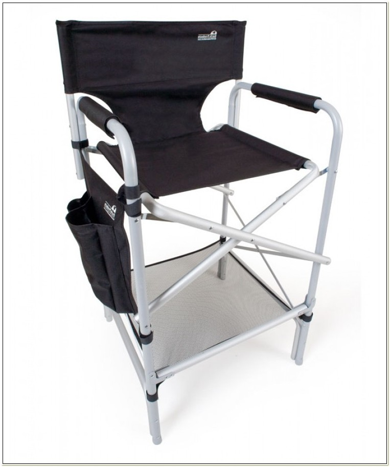 Tall Folding Directors Chair Aluminum