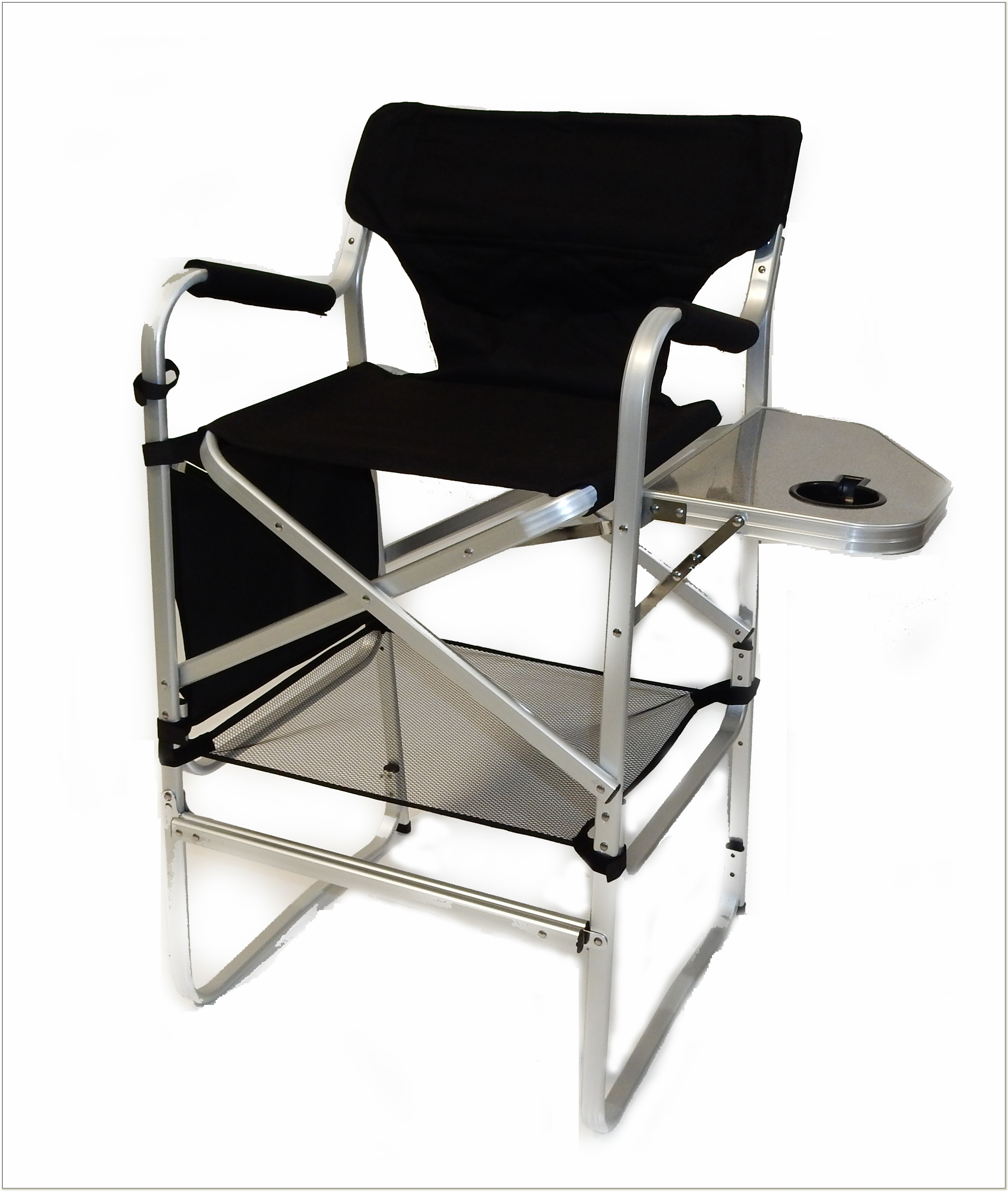 Tall Folding Directors Chair With Side Table