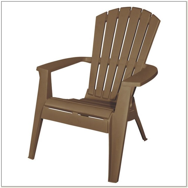 Tan Plastic Adirondack Chairs