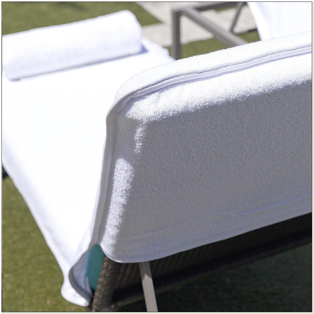 Terry Cloth Lounge Chair Cushion Covers