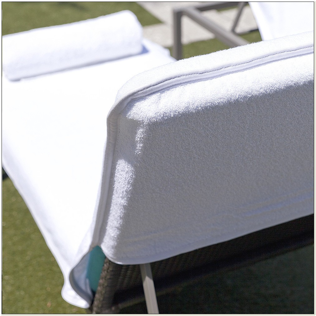 Terry Cloth Outdoor Lounge Chair Covers