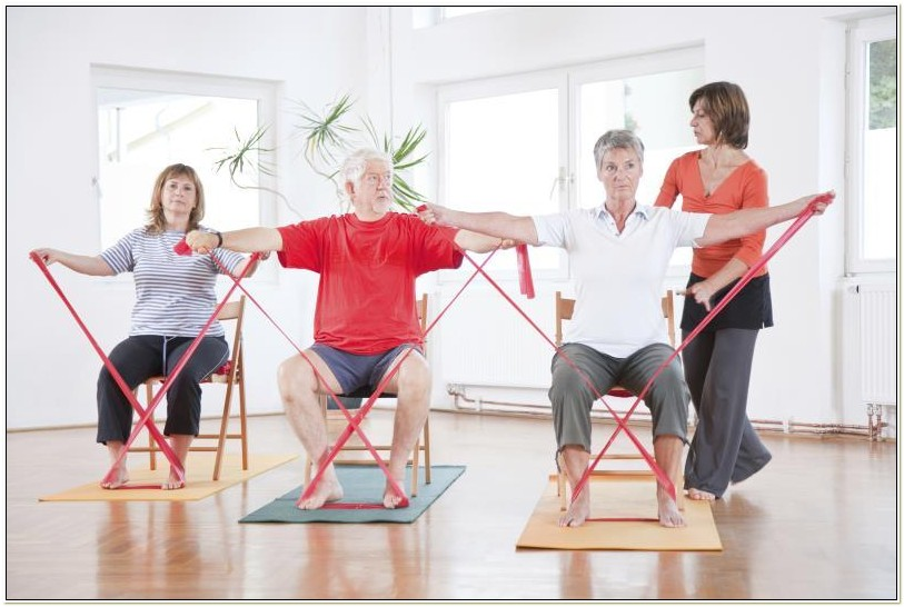 Theraband Exercises For Seniors In Wheelchairs
