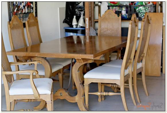 Thomasville Cane Back Dining Set