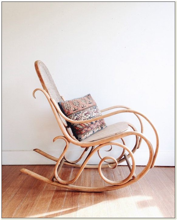 Thonet Bentwood Cane Rocking Chair