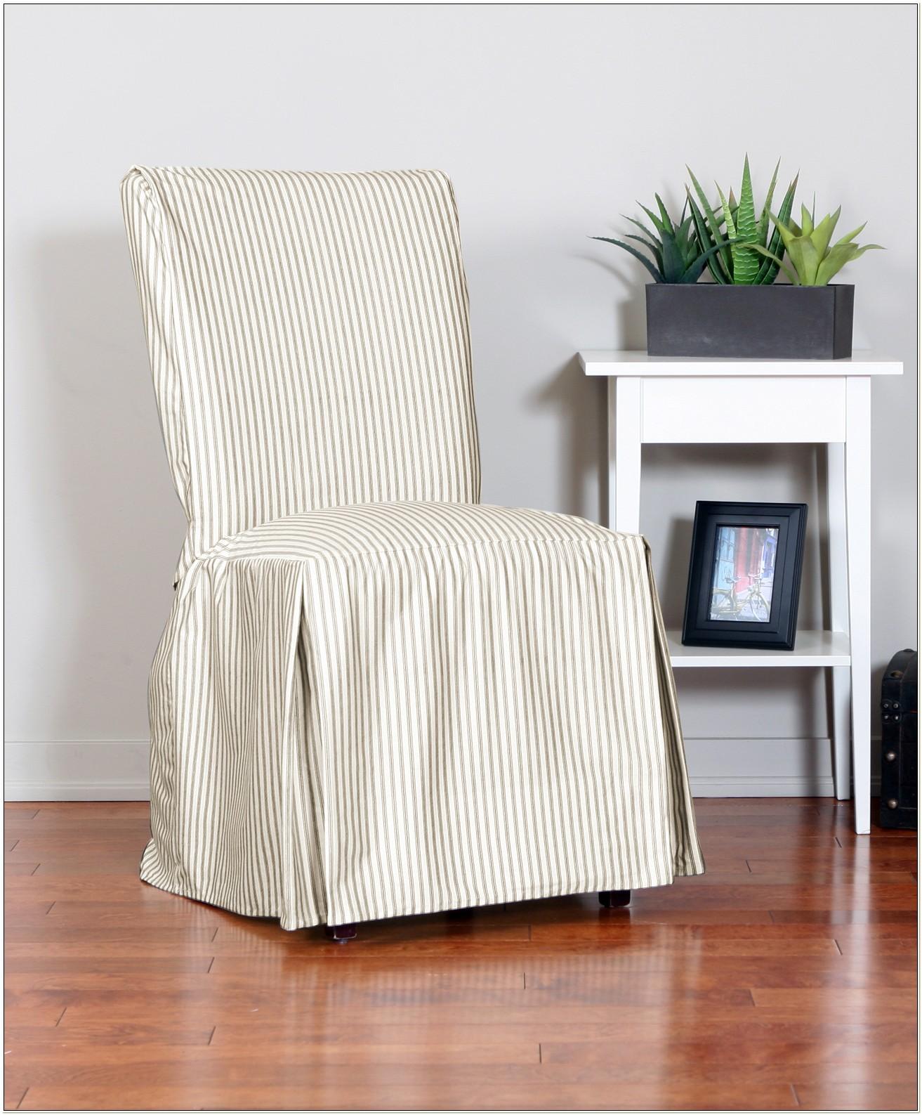 Ticking Stripe Dining Chair Slipcover