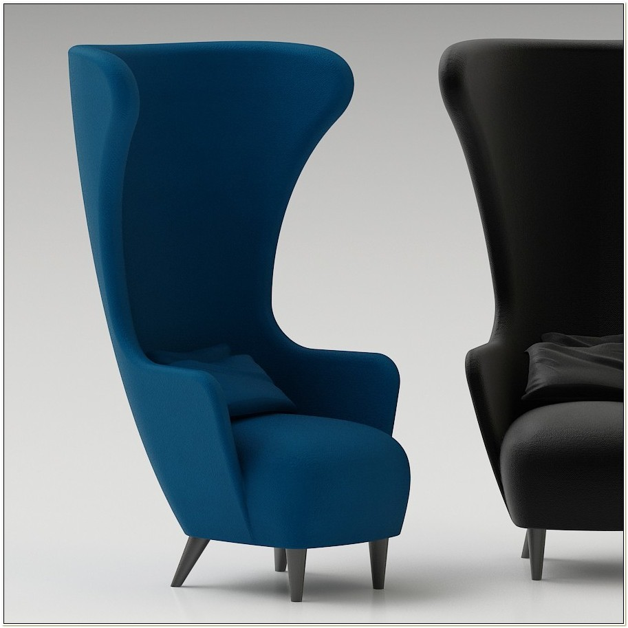 Tom Dixon Wingback Chair 3d Model