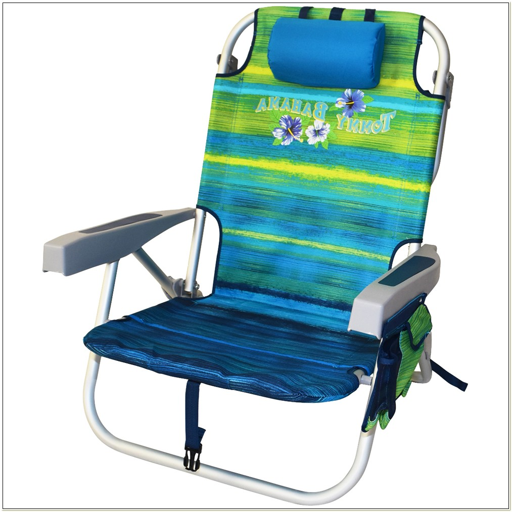 Tommy Bahama Backpack Cooler Chair Blue Stripe